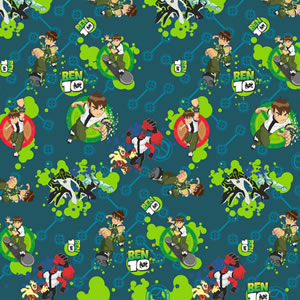 PAPEL CONTACT ANIMADO BEN 10 ROLO 45CM X 10 METROS