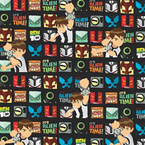 PAPEL CONTACT ANIMADO BEN 10 ALIEN TIME ROLO 45CM X 10 METROS