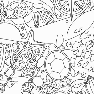 PAPEL CONTACT PARA COLORIR FUNDO DO MAR ROLO 45CM X 10 METROS